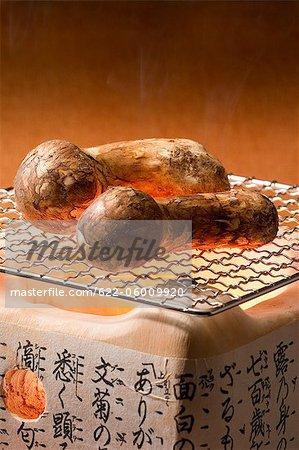 Deux champignons sur le gril