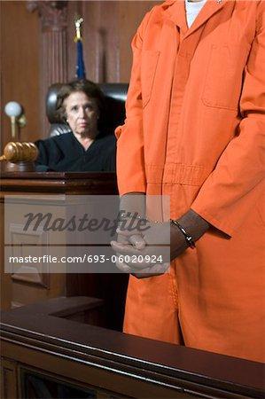 Juge condamnation pénale en Cour