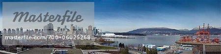 Panoramic View of Vancouver, British Columbia, Canada