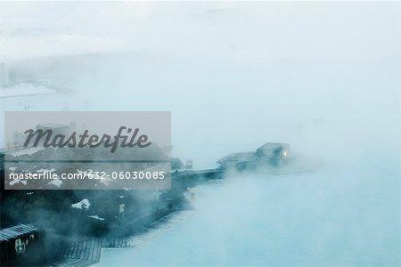 Blue Lagoon geothermal spa, Reykjanes Peninsula, Iceland