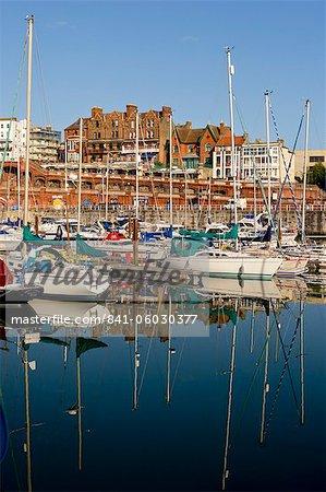 Port de Ramsgate, Thanet, Kent, Angleterre, Royaume-Uni, Europe