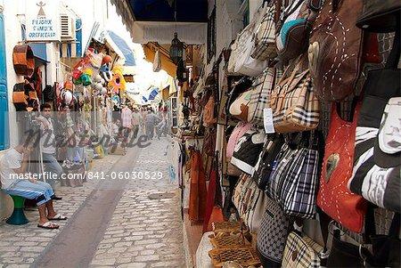 Bazar à Houmt Souk, l'île de Djerba, en Tunisie, l'Afrique du Nord, Afrique