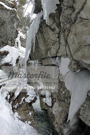 Schlucht Breitachklamm im Winter, Oberstdorf, Allgäu-Alpen, Bayern, Deutschland, Europa