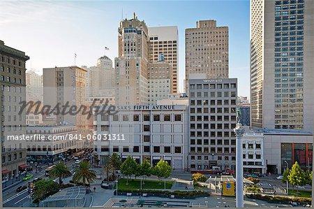 Union Square, Downtown, San Francisco, Californie, États-Unis d'Amérique, l'Amérique du Nord