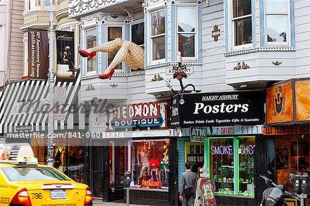 Haight Ashbury Bezirk, San Francisco, California, Vereinigte Staaten von Amerika, Nordamerika