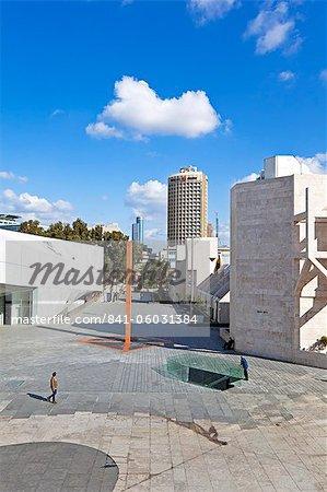 Extérieur de l'immeuble neuf de Herta et Paul Amir de Tel Aviv Museum of Art et bâtiment de la bibliothèque centrale, Tel Aviv, Israël, Moyen-Orient