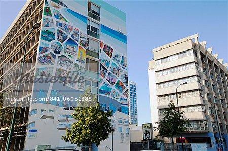 Immeubles d'appartements dans le centre de la ville, Tel Aviv, Israël, Moyen-Orient