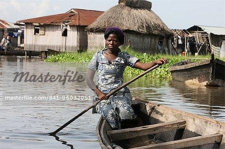 Boot, Ganvie See Dorf am Nokoue See, Benin, Westafrika, Afrika