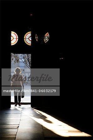 Dans St. Sulpice Basilique, Paris, France, Europe