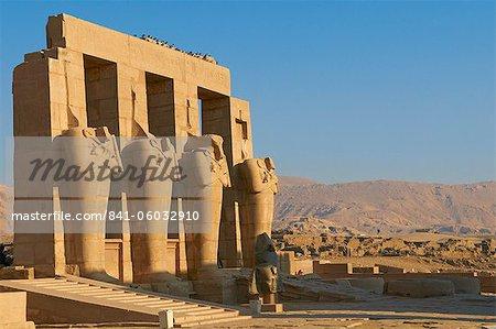 Ramesseum Tempel, Westufer des am Fluss Nil, Theben, UNESCO World Heritage Site, Ägypten, Nordafrika, Afrika