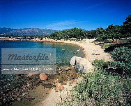 Zeigen Sie Strand, Cala Rossa, Süd-Ost-Korsika, Korsika, Mittelmeer, Europa