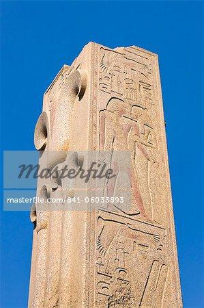 Broken obelisk at Karnak Temple, Karnak, Thebes, UNESCO World Heritage Site, Egypt, North Africa, Africa