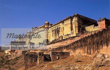 Au XVIe siècle Amber Fort complexe juste à l'extérieur de Jaipur, Rajasthan, Inde, Asie