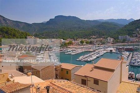 La vieille ville, Soller, Majorque, îles Baléares, Espagne, Méditerranée, Europe