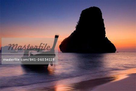 Happy Island, la plage de Hat Phra Nang, Railay, Province de Krabi, Thaïlande, Asie du sud-est, Asie