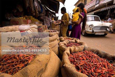 Bangalore marché, Karnataka, Inde, Asie
