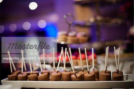 Chocolate Lollipops at Wedding, Toronto, Ontario, Canada