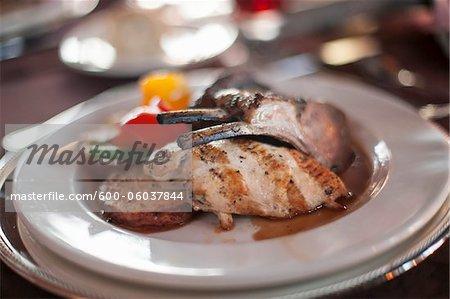 Chicken and Lamb Dish at Wedding, Toronto, Ontario, Canada