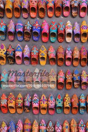 Miniatur-Schuhe im Shop, Marrakesch, Marokko