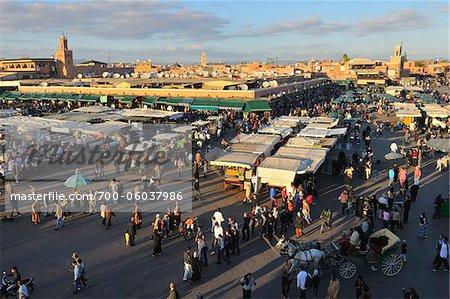 Djemaa El Fna Marktplatz, Marrakesch, Marokko