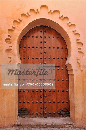 Porte typique, Marrakech, Maroc