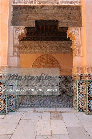 Doorway, Ben Youssef Madrasa, Marrakech, Morocco