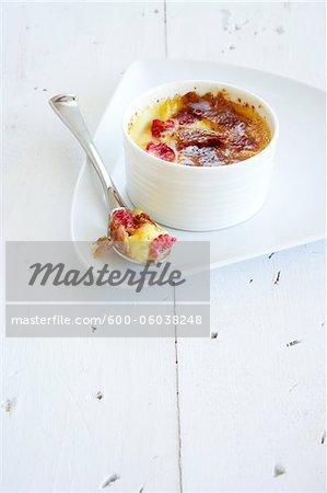 Raspberry Creme Brulee in Ramekin