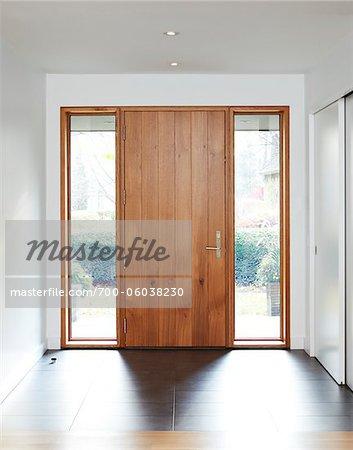 Porte d'entrée de maison