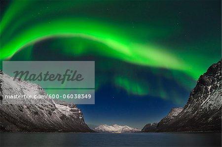 Northern Lights près de Tromsø, Troms, Norvège