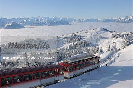 Rotstock Zahnradbahn Zug in Bergen, Arth, Luzern, Schwyz, Schweiz