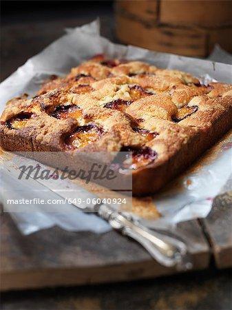 Plateau de tarte aux fruits cuits au four