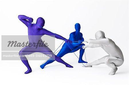 Männer in spielen mit String Body