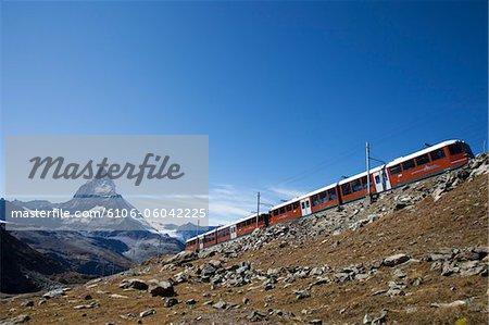 Cornergrat train et Matterhorn