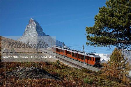 Gornergrat train and Matterhorn