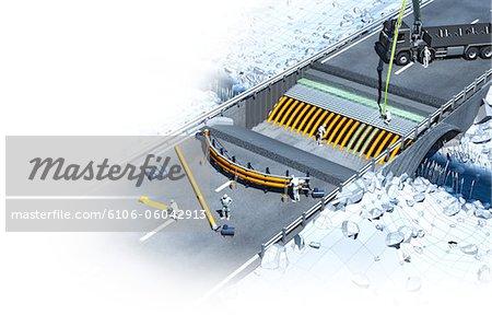 Construction d'un pont
