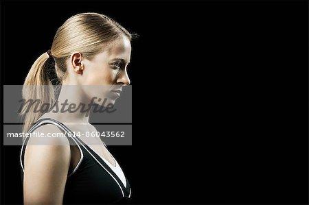 Tennis player, portrait