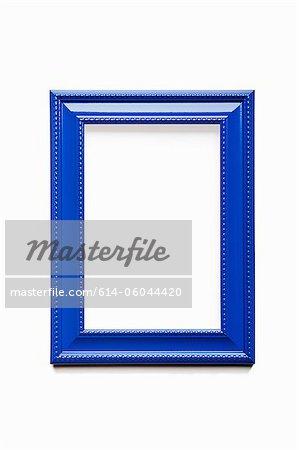 Cadre bleu vide