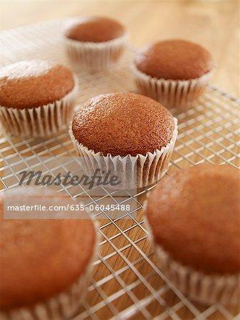 Nahaufnahme von Kühlung auf Drahtzahnstange Muffins
