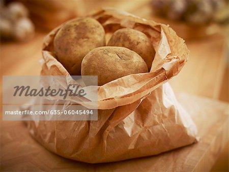 Bio-Kartoffeln in Tüte