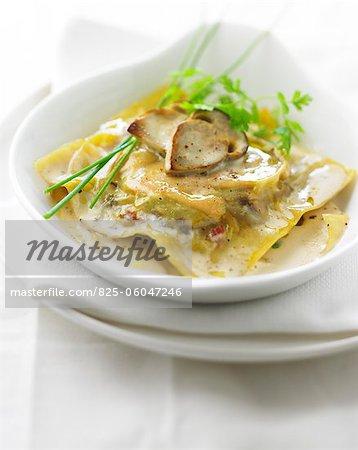 Foie gras and cep raviolis