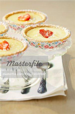 Tartelettes citronniers et fraises