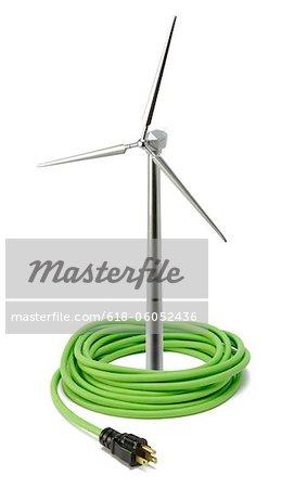 Modèle de turbine éolienne et cordon électrique