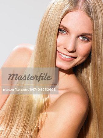 Portrait of a beautiful blonde girl