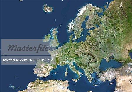 Satellite View of Europe