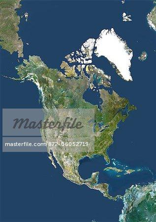 Satellite View of North America