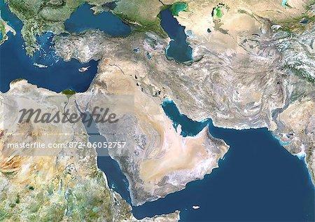 Vue satellite du Moyen-Orient