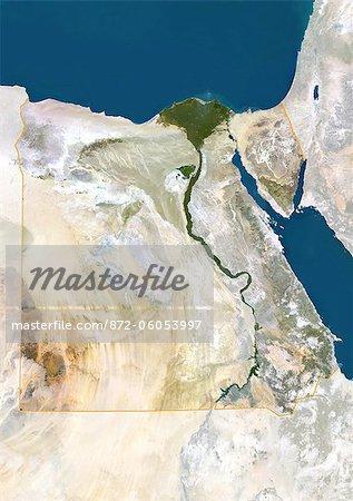 Vue satellite de l'Egypte