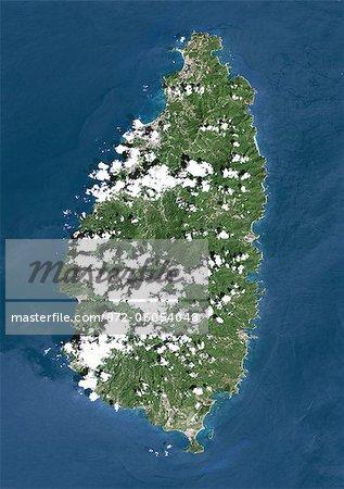Saint Lucia, True Colour Satellite Image. Saint Lucia, true colour satellite image taken on 16 October 2000, by the LANDSAT 7 satellite.