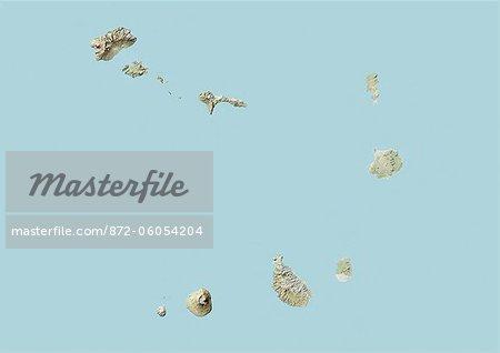 Cape Verde, Relief Map