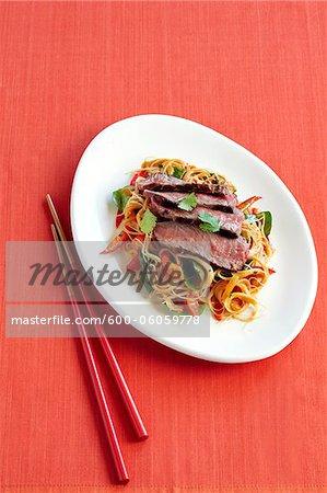Malaysische Rindfleisch Nudeln